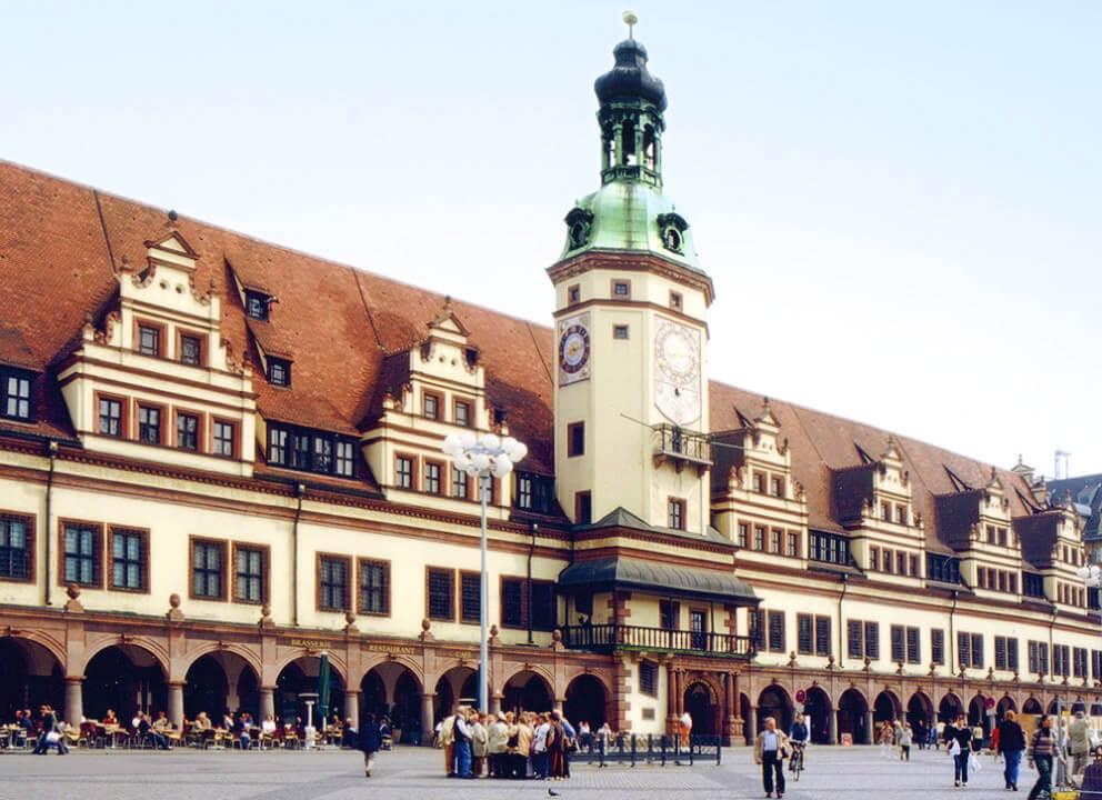 Der Standort Leipzig, Bild vom Alten Rathaus Leipzig