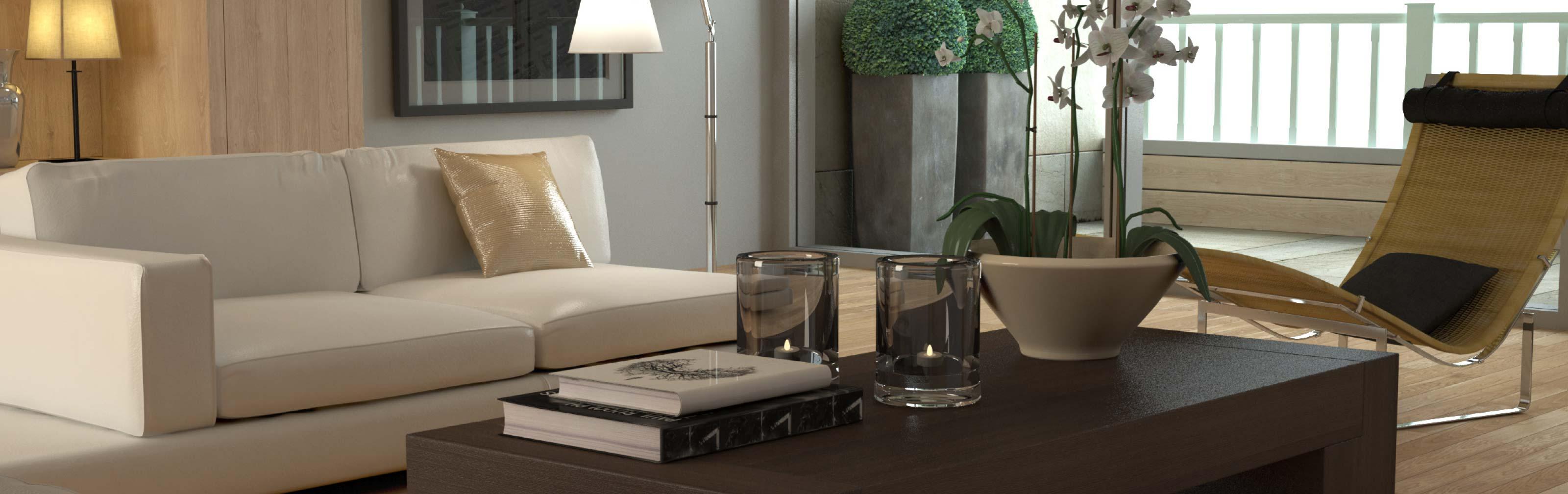 Kauf einer Immobilie, Ansicht Wohnzimmer