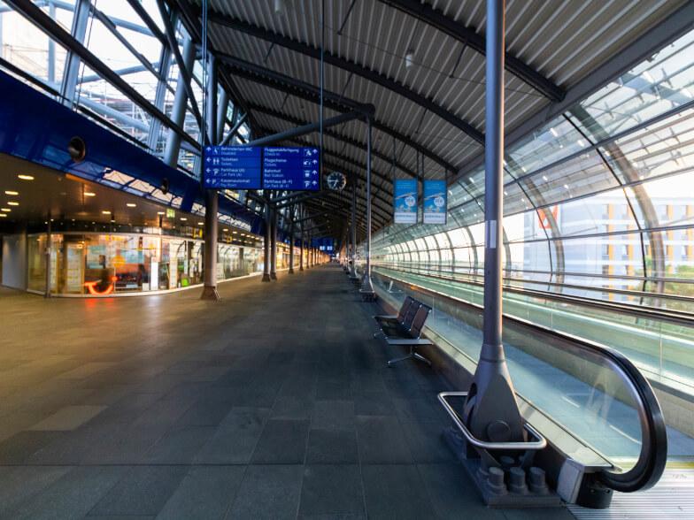 Verkehrsknotenpunkt Flughafen Leipzig